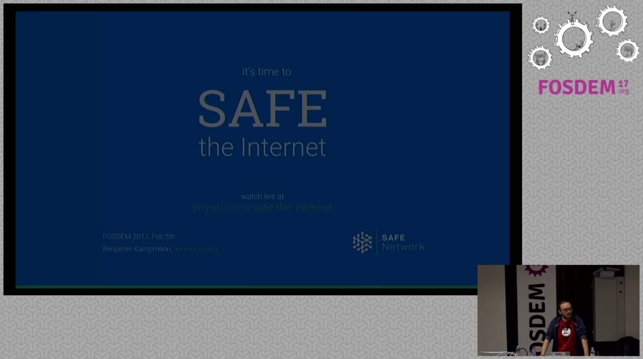 FOSDEM 2017: It's time to SAFE the internet